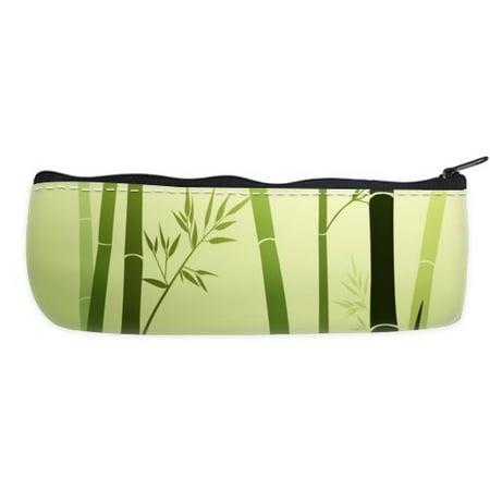 POPCreation Bamboo Life School Pencil Case Pencil Bag Zipper Organizer Bag