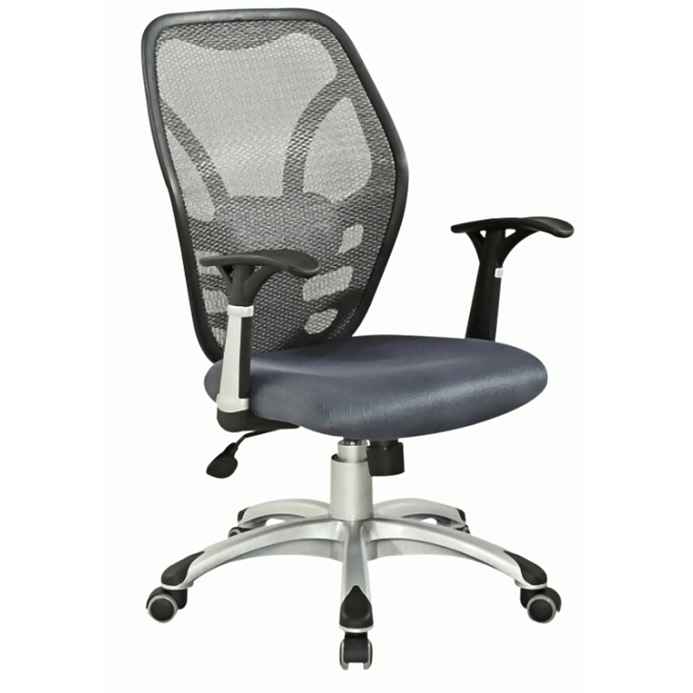 Somette  Grey Nylon Mesh Pneumatic Gas Lift Contemporary Office Chair