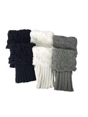 cc92239b3b Product Image Fashion Culture Knit Cuff Boot Toppers Set of 3