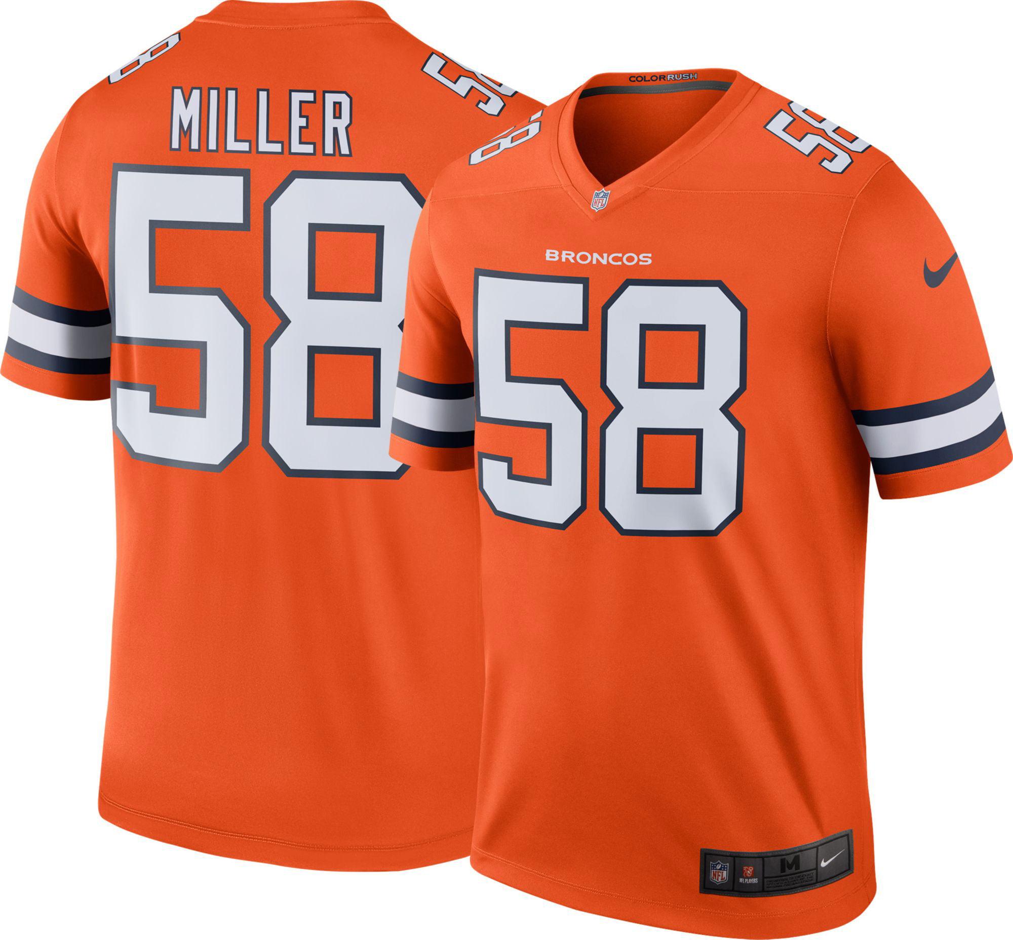 b521c58b8 Nike Men s Color Rush Denver Broncos Von Miller  58 Legend Jersey ...