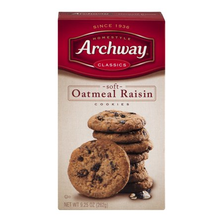 Archway Classics Soft Oatmeal Raisin Cookies, 9.25 OZ