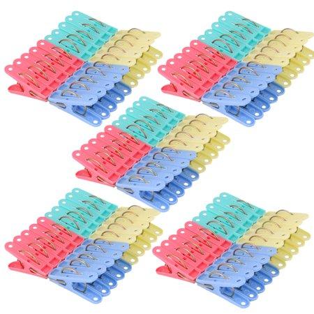 Home Laundry Socks Underwears Clothes Clip Hanging Peg Clothespins 100pcs - image 3 de 3