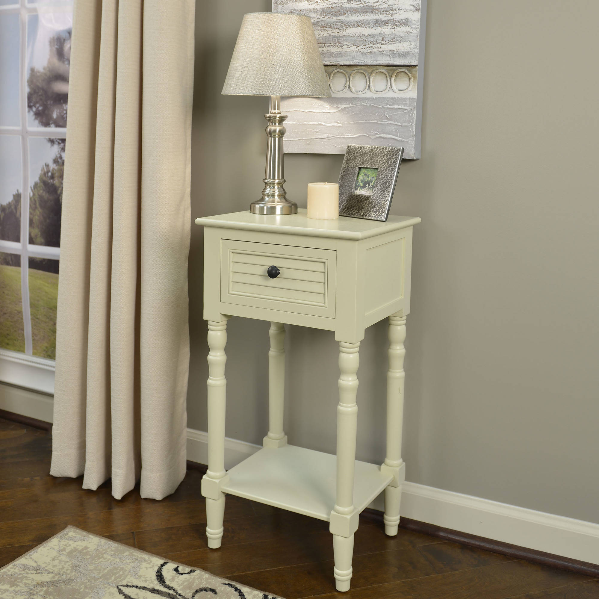 Better Homes and Gardens Shutter Accent 1-Drawer Table, Multiple Colors