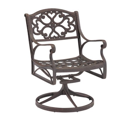 Biscayne Bronze Swivel Dining Chair ()