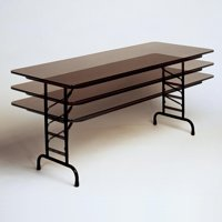Correll High Pressure Laminate Adjustable Folding Table