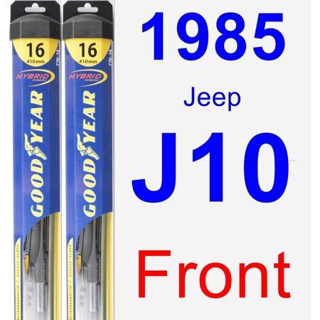 1985 Jeep J10 Wiper Blade Set/Kit (Front) (2 Blades) -