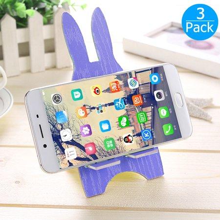 Memo Case - 3pcs Wooden Cute Rabbit Card Memo Holder Mount,Phone Stand Desk Cellphone Holder Card Memo for iPhone X/ 8 /8 Plus/ 7 /7 Plus,Samsung Galaxy S9/ S9 Plus /S8 Plus/ S8 Edge /S7