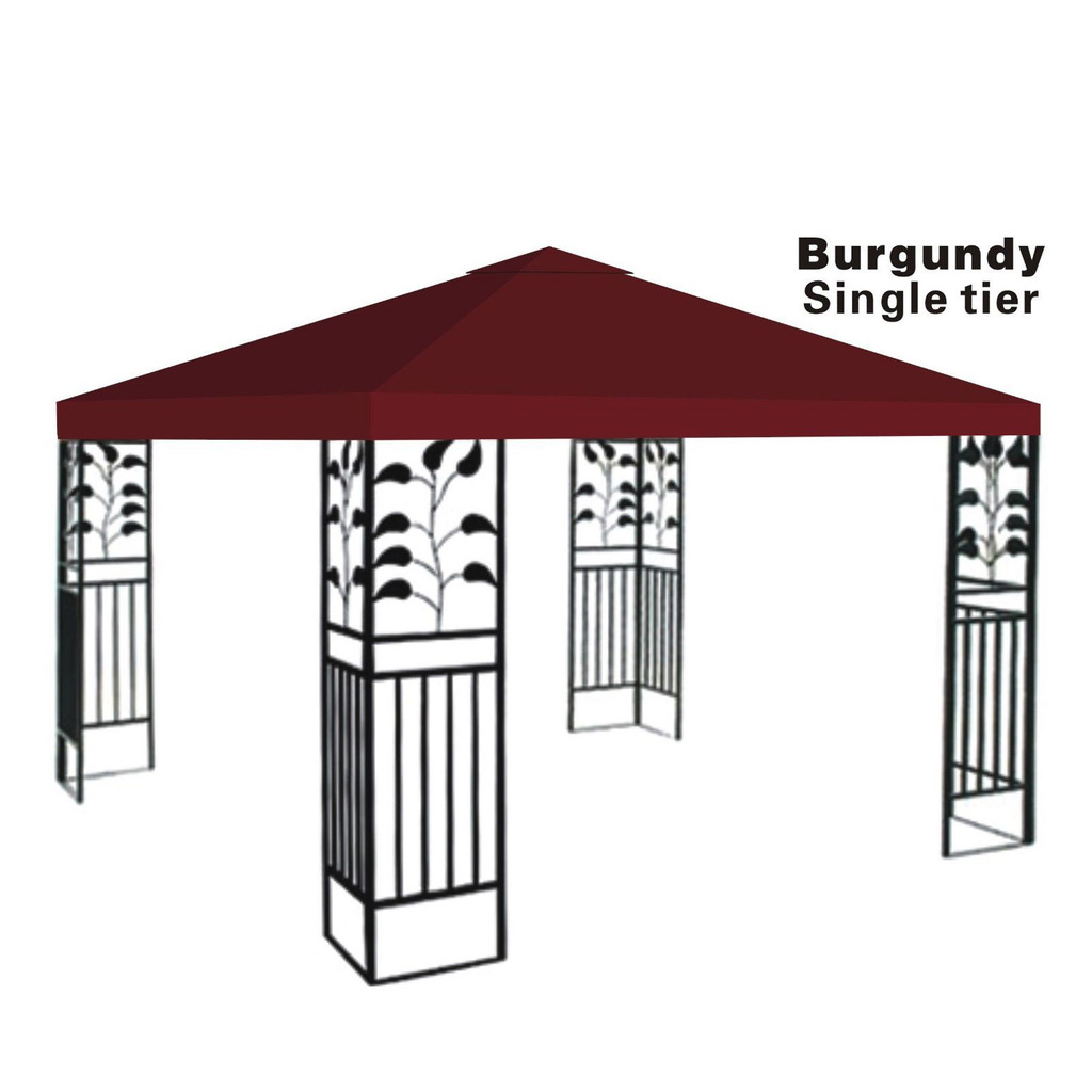 10x10u0027 Replacement Canopy Top Patio Pavilion Gazebo Sunshade Polyester Cover-Single Tier  sc 1 st  Walmart.com & 10x10u0027 Replacement Canopy Top Patio Pavilion Gazebo Sunshade ...