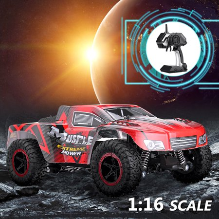 Kid Toy 1/16 RC Truck Car 42KM/h 2.4G 2WD Waterproof Monster Short Course SUV Truck Christmas Birthday Best