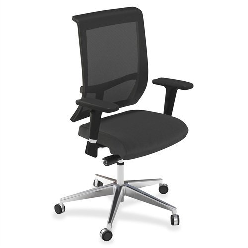 """Mayline Commute Series Mesh Back Chair - Fabric Black Seat - Back - Frame - 25"""" X 23"""" X 45"""" Overall Dimension (C1CB2OJT)"""