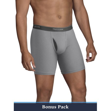 Fruit of the Loom Men's 5+5 Bonus Pack CoolZone Fly Dual Defense Black and Gray Boxer