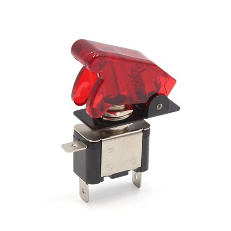 DC 12V 20A Red  Light Rocker Toggle SPST ON/OFF Control Switch for Auto Car
