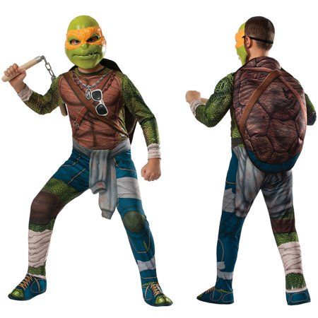 Boys Ninja Turtles Michelangelo Costume - Ninja Turtle Michelangelo