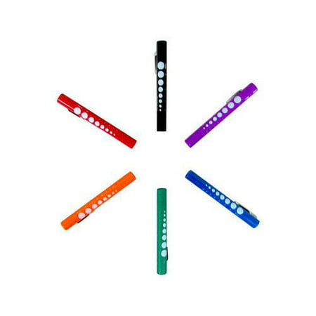 Dixie Ems Colored Disposable Penlight with Pupil Gauge, 6 Count (Ems Mountain Light)