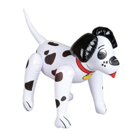 Adorable Inflatable Dalmation - 24 Inch / Fire House Dog / Party Decor / Favor / Decoration / Stocking Stuffer - Fun Stocking Stuffers