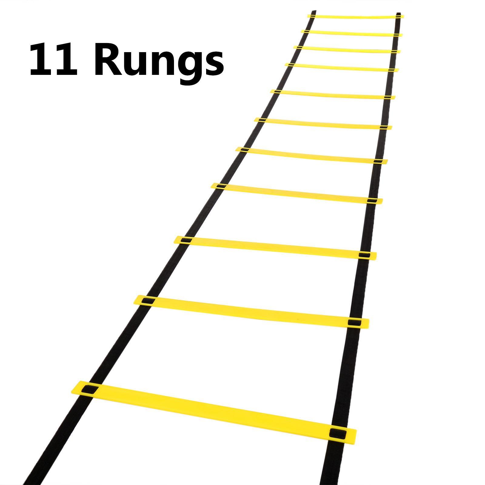11-rung Agility Ladder Speed Soccer Football Fitness Feet Training w/ Carry Bag 4 Meters BYE