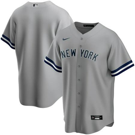 New York Yankees Nike Road 2020 Replica Team Jersey - Gray Mlb Replica Uniforms