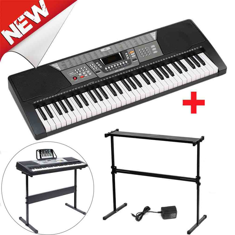 61 Key Standard Piano Keyboards MK-980 On Sale With Piano Stand For Kids LED Display Electronic Organ Instrument