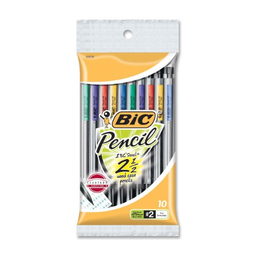 Bic Top Advance Mechanical Pencil #2 Pencil Grade 0.7 Mm Lead Size Assorted Barrel 10   Pack (MPP101) by Bic Corporation