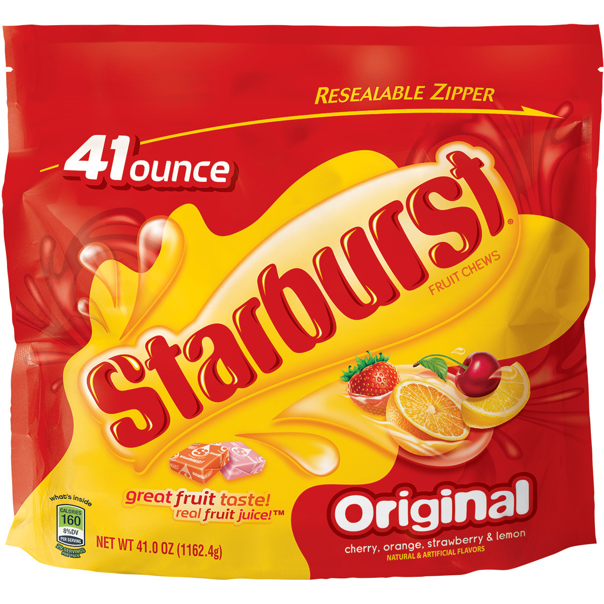 Starburst, Original Fruit Chews Candy, 41 Oz