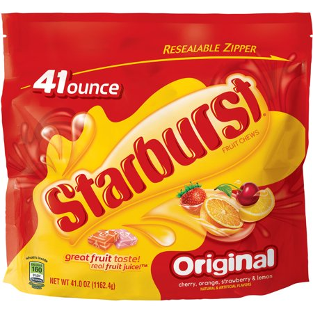 Starburst Jelly Beans ((2 Pack) Starburst Original Fruit Chew Candy, Party Size Oz, 41)