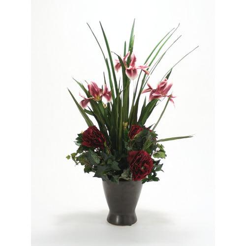 Distinctive Designs Silk Floral Mix in Zen Pot