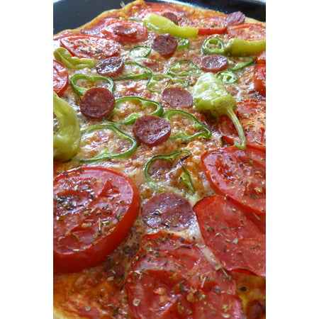 LAMINATED POSTER Italian Pepperoni Pizza Food Pizza Topping Salami Poster Print 24 x 36