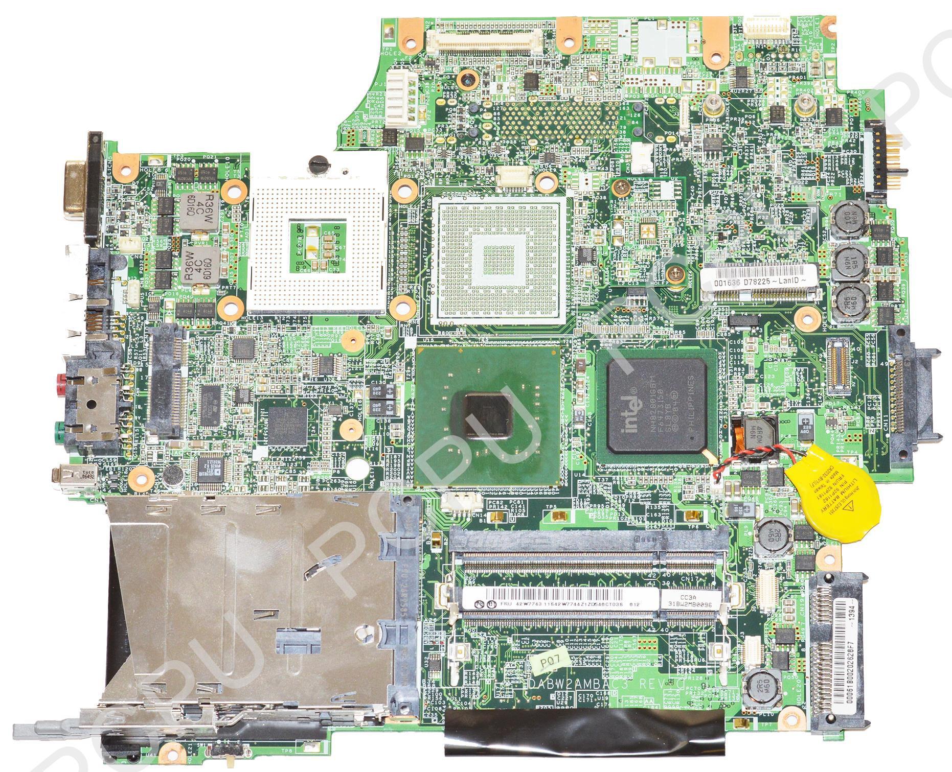 42W7743 Ibm Thinkpad Z 61 Z61 System Board