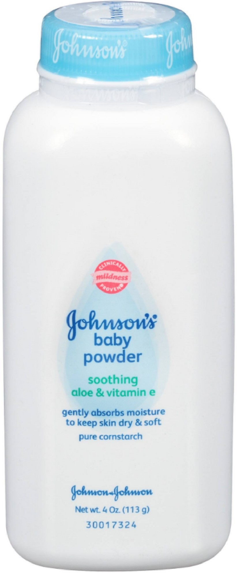 JOHNSON'S Pure Cornstarch Baby Powder 4 oz (Pack of 2) by