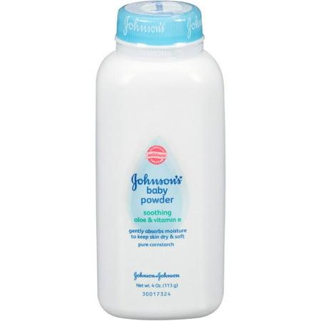 Johnson S Pure Cornstarch Baby Powder 4 Oz Pack Of 2