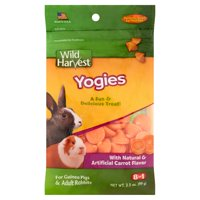(2 Pack) Wild Harvest Yogies for Guinea Pigs and Adult Rabbits, 3.5 oz.