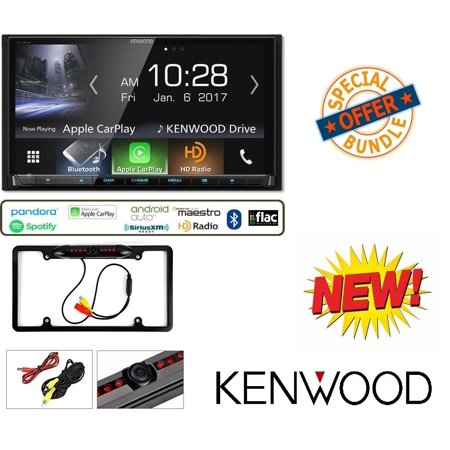 Kenwood Excelon DDX9904S In-Dash DVD Receiver with Apple CarPlay & Android  Auto W/ Cache Night Vision Car License Plate Rearview Camera