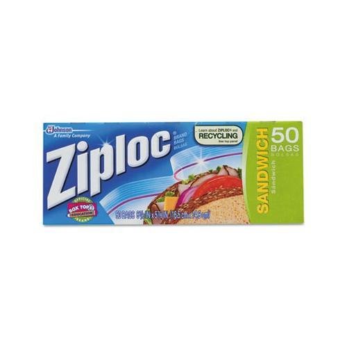 Ziploc Smart Zip Sandwich Bags, 50 count