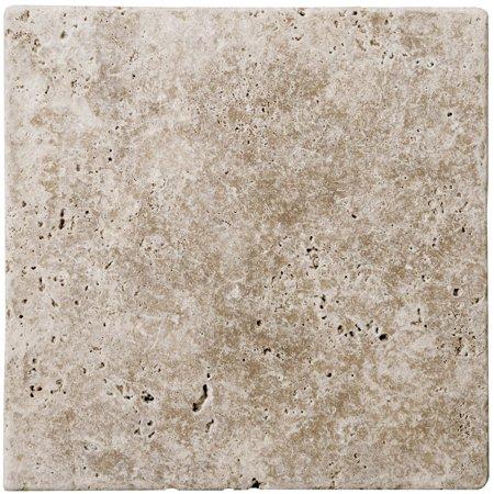 Emser Tile T06FONT0606UT Walnut Trav Fontane Tumbled Tumbled Travertine Tile