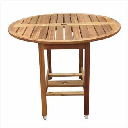 Folding dining table acacia wood construction walmartcom for Try and attractive foldable dining table