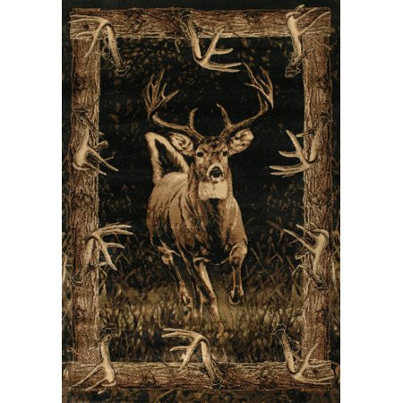 United Weavers Designer Contours John Q. Running Deer Toffee Accent Rug 1