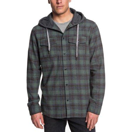 Men's Shirt Jacket Plaid Snap Up Cotton XL