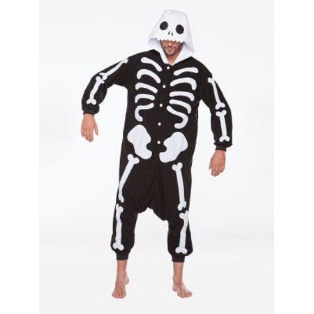 Halloween Wholesalers Scary Skeleton Costume - Black (Last Minute Scary Halloween Costumes)