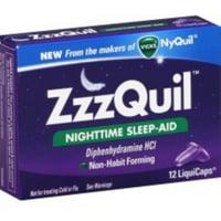 2 Pack - ZzzQuil Nighttime Sleep-Aid, LiquiCaps 12 ea