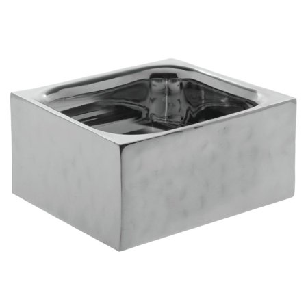 Stainless Hammered Finish (Stainless Steel Serving Pan With Double-Wall And Hammered Finish- 6