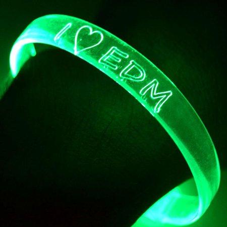 Fiber Optic Bracelets I Heart EDM (2 pack)