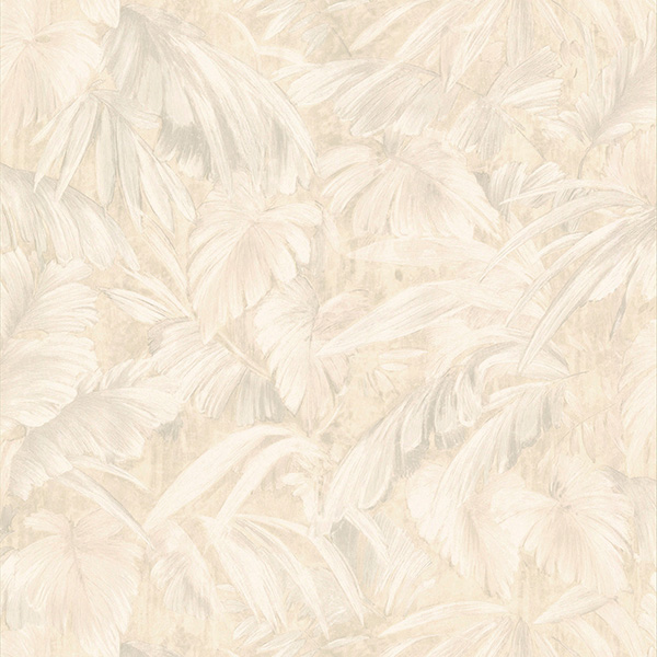 Raven Beige Palm Tree Leaf Texture Wallpaper
