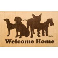 """Doortex® Welcome Dog Design Door Mat - 24"""" x 39"""""""