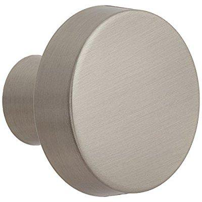Amerock Bp55270 G10 Blackrock Satin Nickel Round Cabinet Hardware Knob  1 33 Inch Diameter   By Amerock