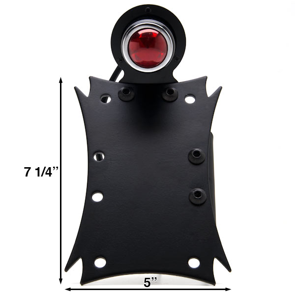Axle Vertical / Horizontal Plate Holder Tail Light For Victory Kingpin Deluxe 8-Ball Tour Ness - image 2 de 4