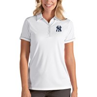 New York Yankees Antigua Women's Salute Polo - White/Silver