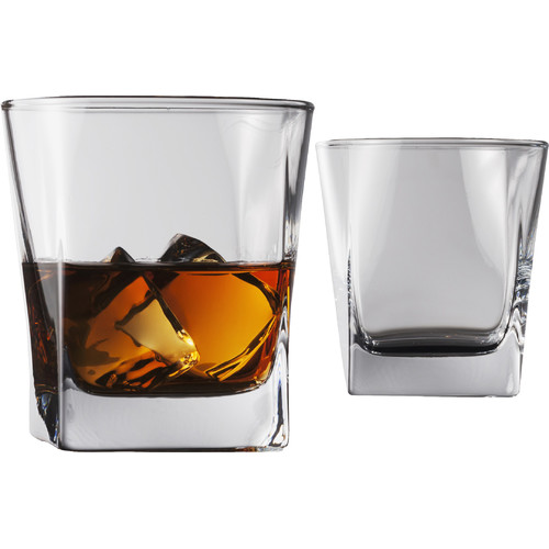 Flato Home Products Cube 10.5 oz. Double Old Fashioned Glass (Set of 4)