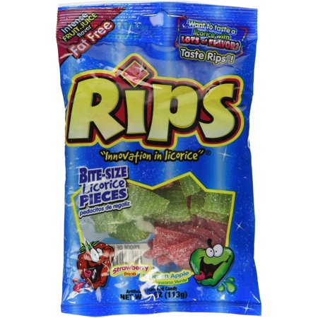 Candy Rips Bite Size 4oz 12 Count