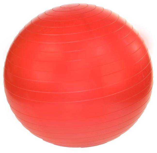 45 cm. Professional Exercise Ball w Pump in Ruby Red