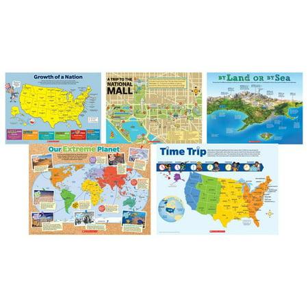 MAP SKILLS 5 PIECE POSTER ST - Halloween Map Skills